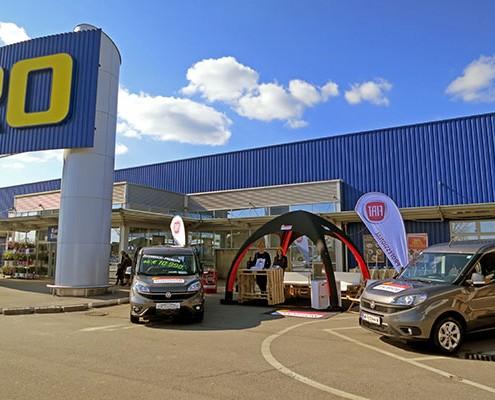 Roadshow Fiat Professional Event Fahrzeuge