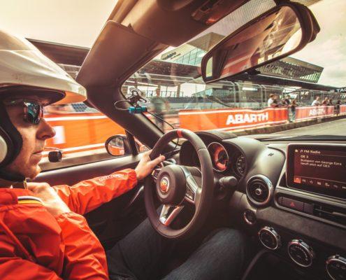 Promotion Eventsupport Abarth Werbung Spielberg Fahrzeug