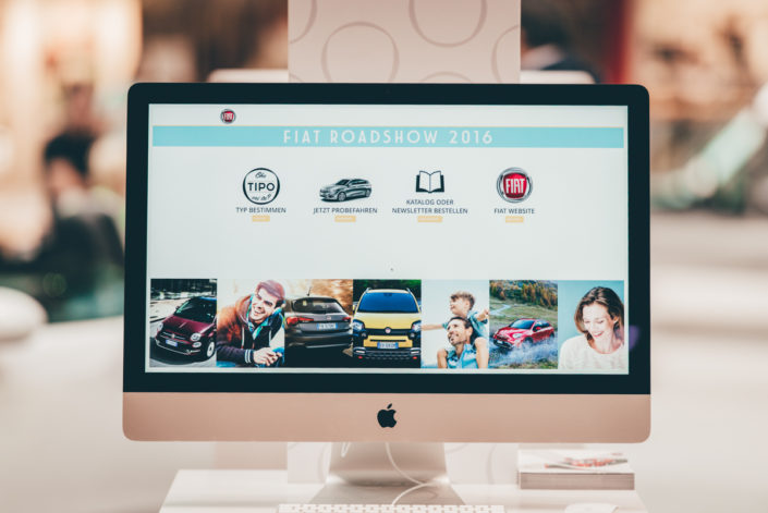 Fiat Roadshow Promotion Werbung Kärnten Fahrzeuge