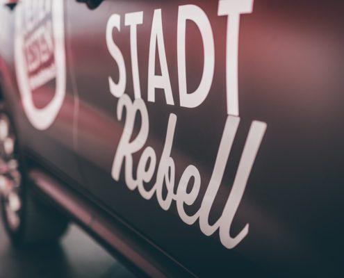 Stadtrebelll Fiat Promotion Branding Auto Fahrzeug Kärnten Werbung