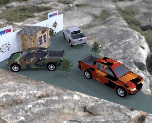 Standplanung Fiat Professional Hohe Jagd Messeauftritt
