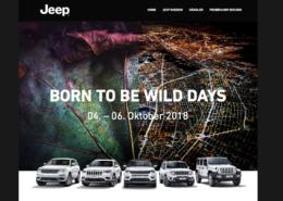 Jeep Probefahrt Buchung Webdesign Website CRM Leadmanagement